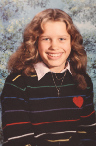 In seventh grade, I wore my heart on my sleeve. Also my boob.