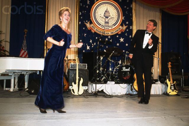 Al and Tipper Gore Dancing at Inaugural Ball