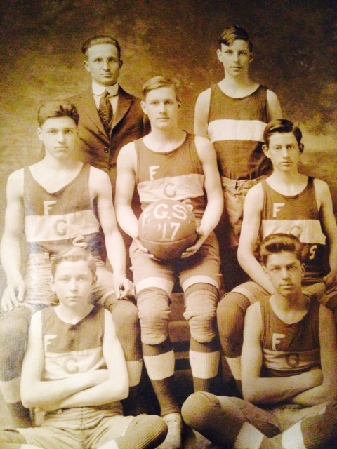 Basketball is just so 'meh'. (My grandfather is the particularly ecstatic boy sitting in the front to the left)